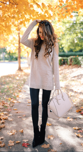 Fall-outfit-ideas-274x500 How to Wear Leggings Under a Dress- 24 Legging Outfit Ideas