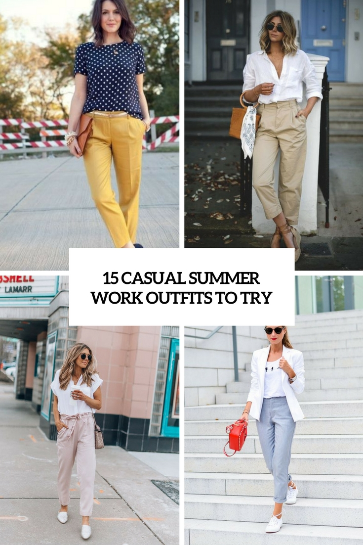 casual summer work outfits to try cover