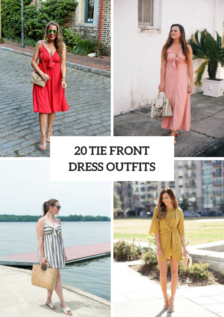 Comfy Outfits With Tie Front Dresses