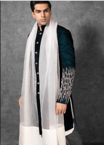 Ethnic-engagement-dress-358x500 27 Latest Engagement Dresses for Men in India