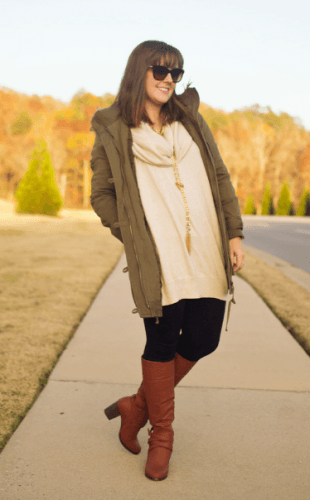 Frolicking-in-winter-310x500 How to Wear Leggings Under a Dress- 24 Legging Outfit Ideas