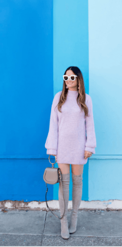 Comfy-in-winter-248x500 35 Best Ways to Wear Lilac Outfits For Women