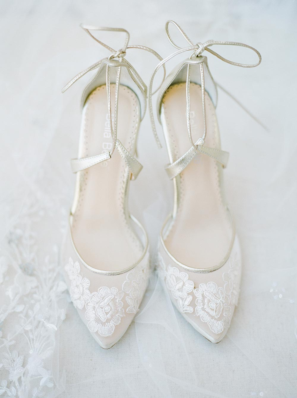 sheer bridal heels with ankle straps