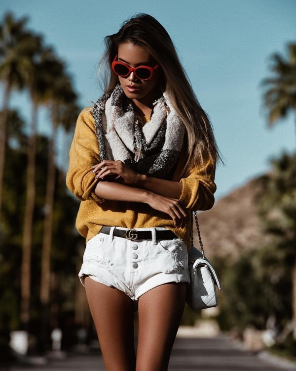 23-5-600x750 20 Best Outfits with Mustard Sweaters for Women in 2018
