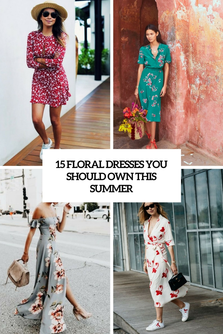 floral dresses you should own this summer cover