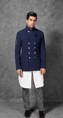 Double-Breasted-Jacket-267x500 27 Latest Engagement Dresses for Men in India