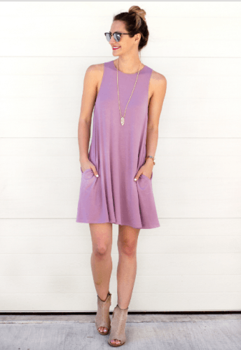 Cotton-Shift-Dress-344x500 35 Best Ways to Wear Lilac Outfits For Women