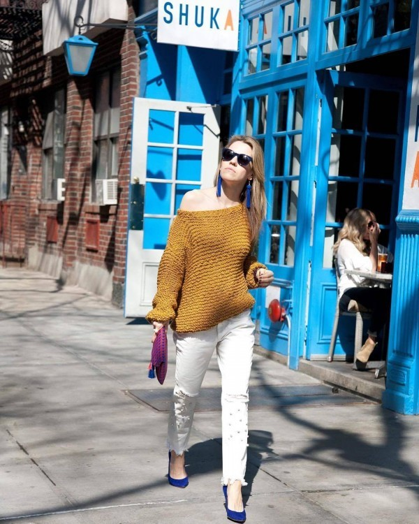 13-5-600x750 20 Best Outfits with Mustard Sweaters for Women in 2018