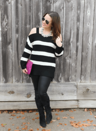 Office-Party-Outfit-367x500 How to Wear Leggings Under a Dress- 24 Legging Outfit Ideas