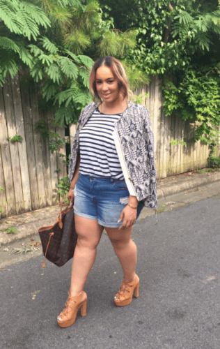 Sunday-Brunch-Outfit-2-316x500 How to Wear Shorts for Plus Size–20 Plus Size Shorts Outfits