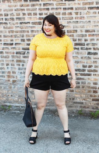 plus-size-black-shorts-325x500 How to Wear Shorts for Plus Size–20 Plus Size Shorts Outfits