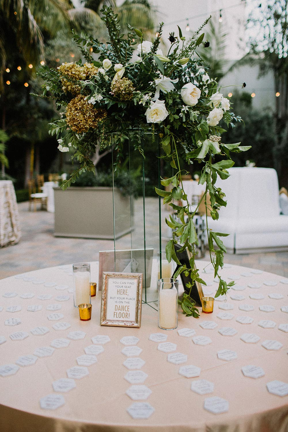 geometric wedding place cards