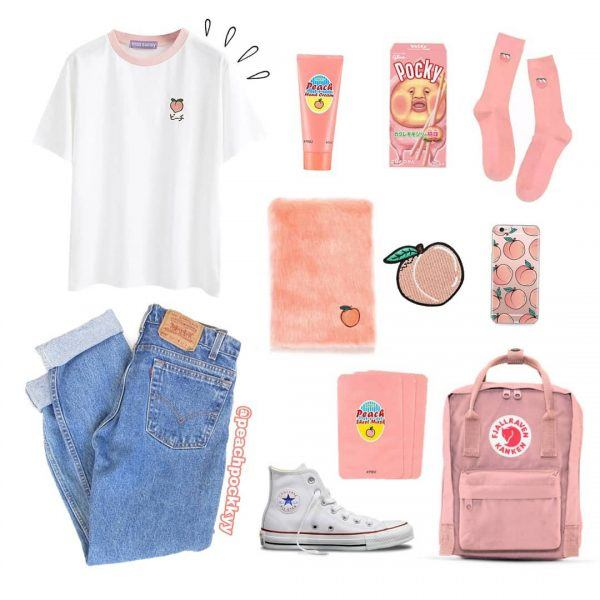 Pink-Aesthetic-600x600 25 Outfits to Wear With White Sneakers for Women