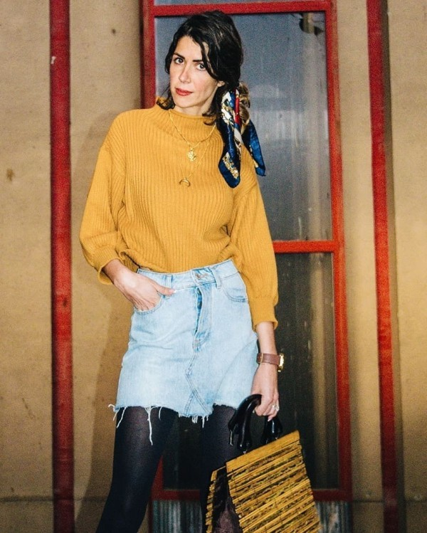 17-6-600x749 20 Best Outfits with Mustard Sweaters for Women in 2018