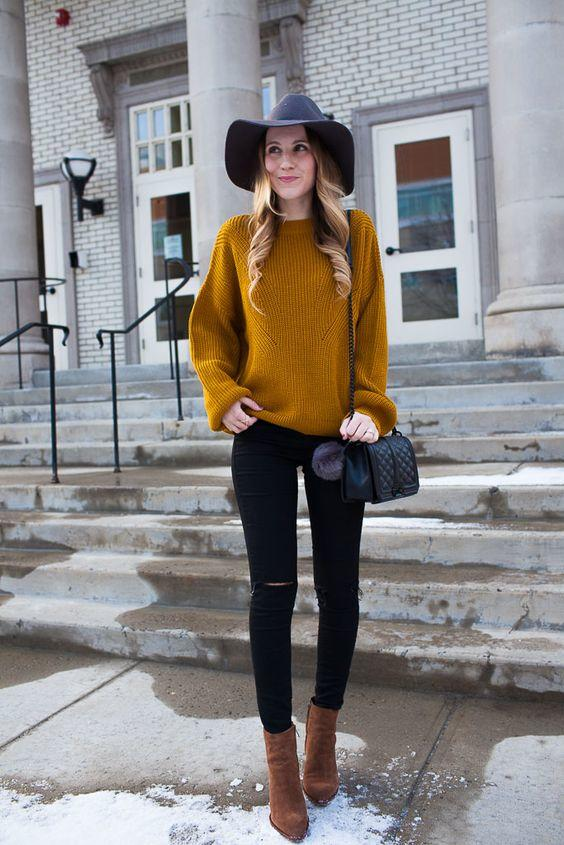 4-6 20 Best Outfits with Mustard Sweaters for Women in 2018
