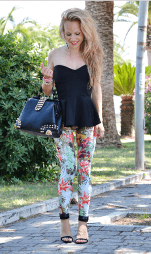 Floral-Leggings-298x500 How to Wear Leggings Under a Dress- 24 Legging Outfit Ideas