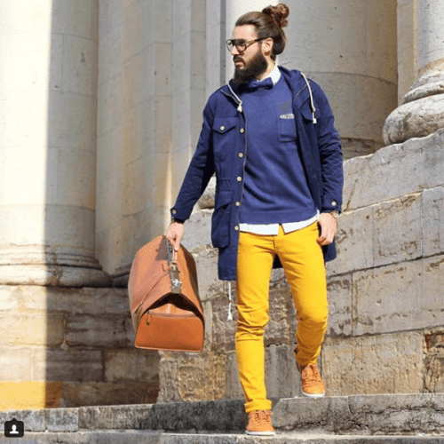 Travel-Outfit-500x500 Top 20 Men's Outfit with Mustard Pants To Wear in 2018