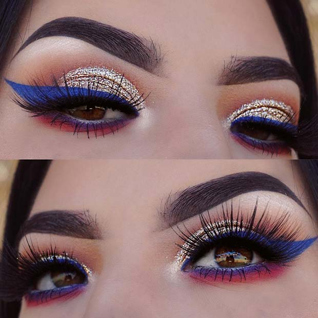 4th of July Eye Makeup Look