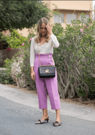 Casual-Lilac-Outfit 35 Best Ways to Wear Lilac Outfits For Women