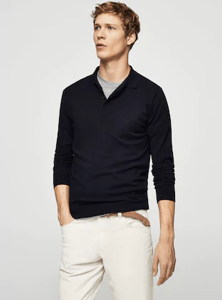 Knitted-polo-shirt 18 Best Tips and Business Casual Outfits For Men