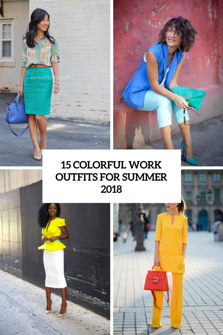 colorful work outfits for summer 2018 cover