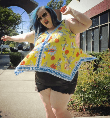 Cute-top-with-shorts-466x500 How to Wear Shorts for Plus Size–20 Plus Size Shorts Outfits