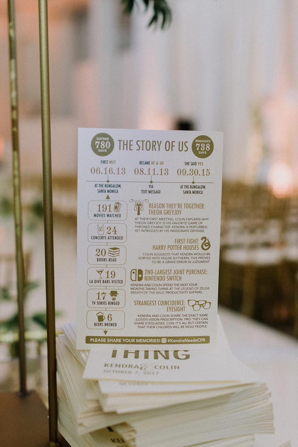 storyline wedding programs