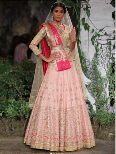 Double-Dupatta-Outfit-379x500 27 Latest Engagement Dresses for Women in India