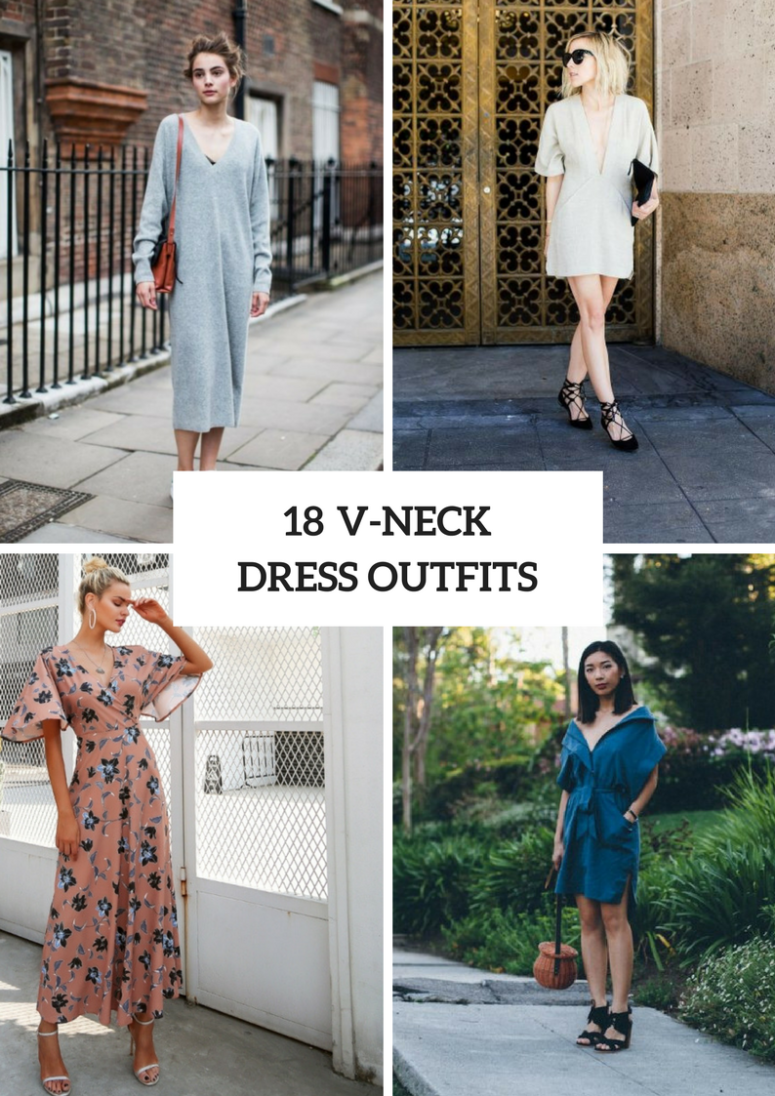 Wonderful Outfits With V Neck Dresses
