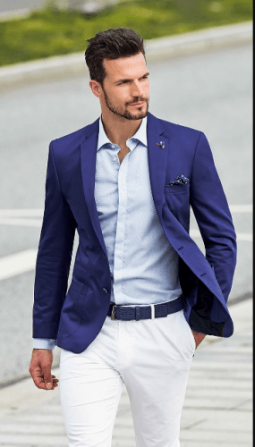 Navy-Blue-Blazer-285x500 18 Best Tips and Business Casual Outfits For Men