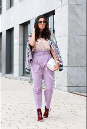 Bomber-Jacket-with-Pants-336x500 35 Best Ways to Wear Lilac Outfits For Women