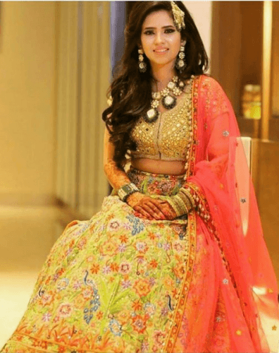 Frenzy-of-colours-396x500 27 Latest Engagement Dresses for Women in India