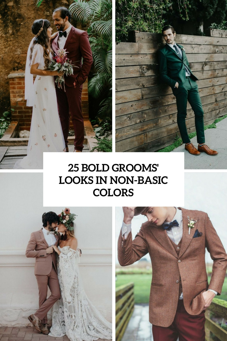 bold grooms' looks in non basic colors cover