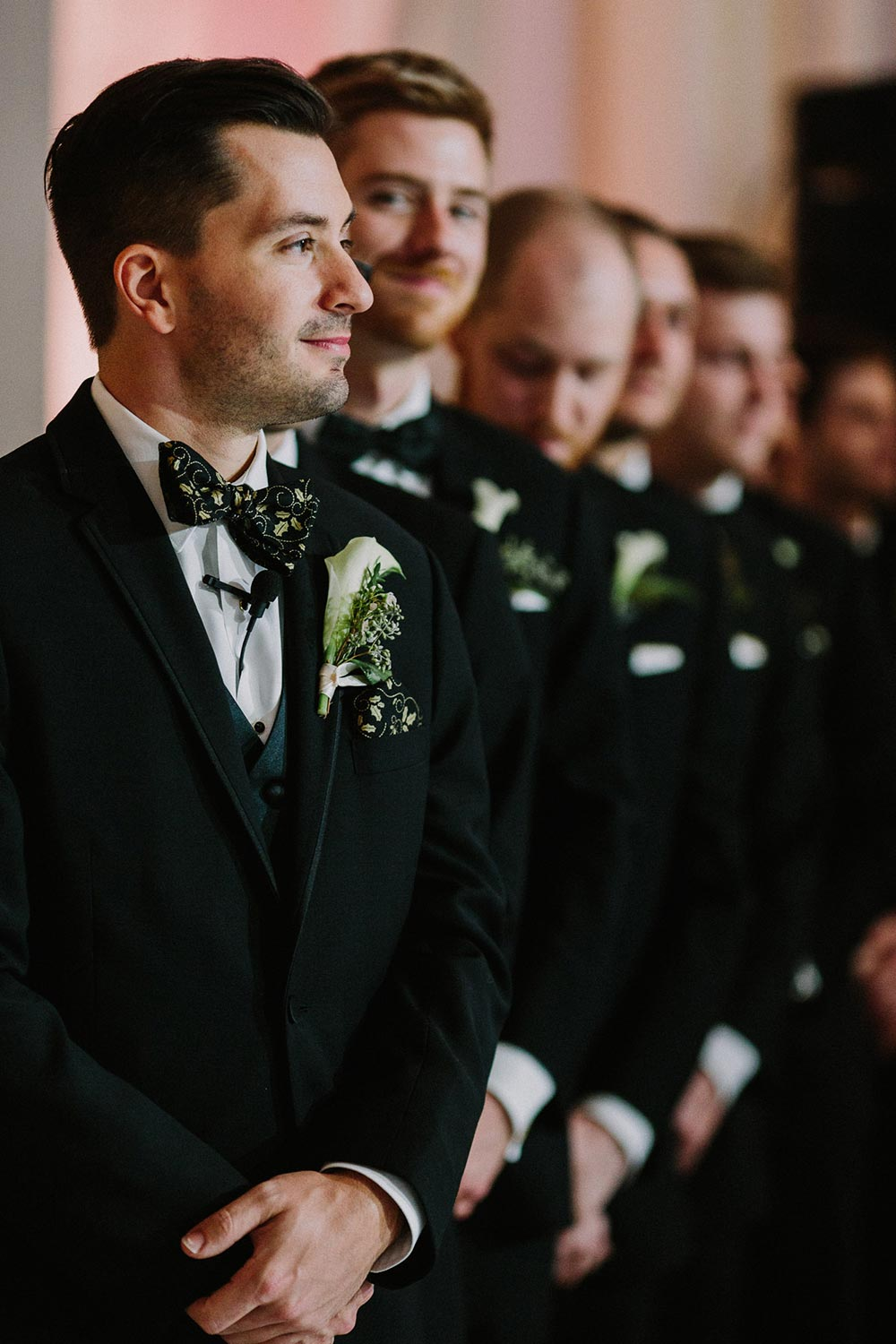 black groom tux