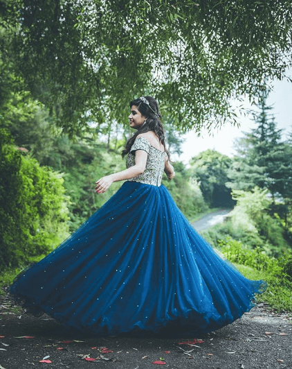 fairytale-engagement-dress-indian-bride 27 Latest Engagement Dresses for Women in India