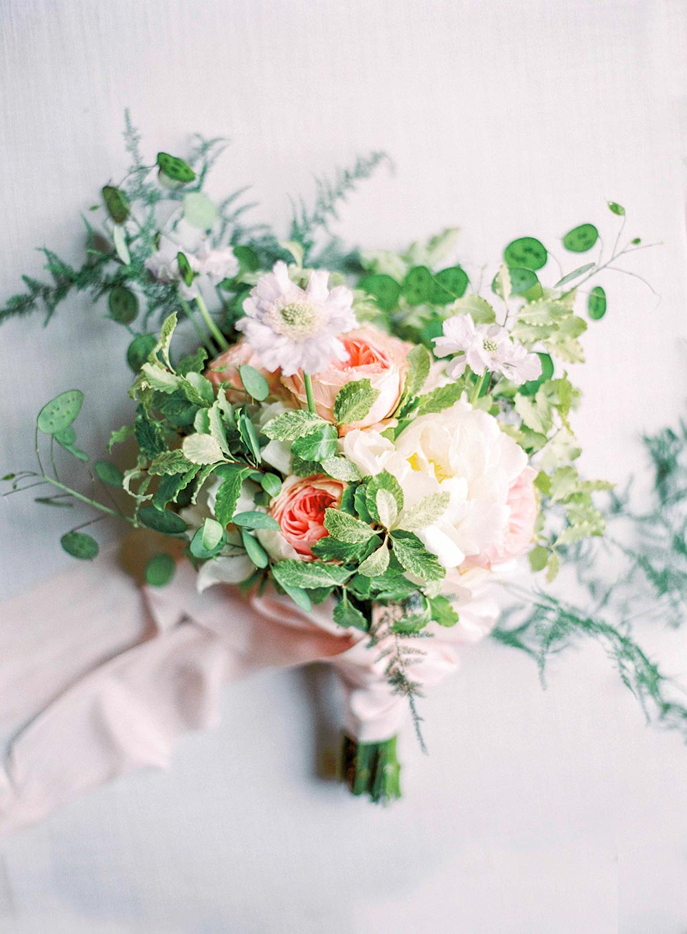 spring flower wedding bouquet english countryside