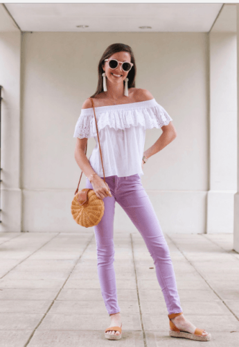 Casual-Date-Outfit-345x500 35 Best Ways to Wear Lilac Outfits For Women