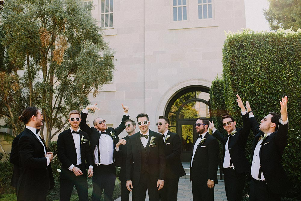 black groomsmen tuxes
