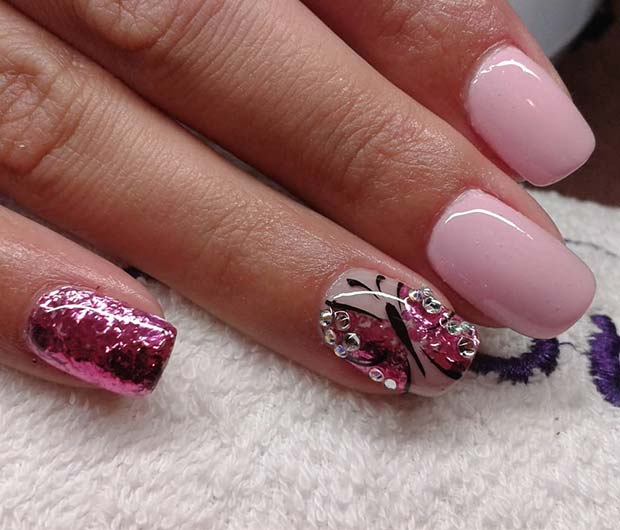 Pretty Butterfly Spring Nails