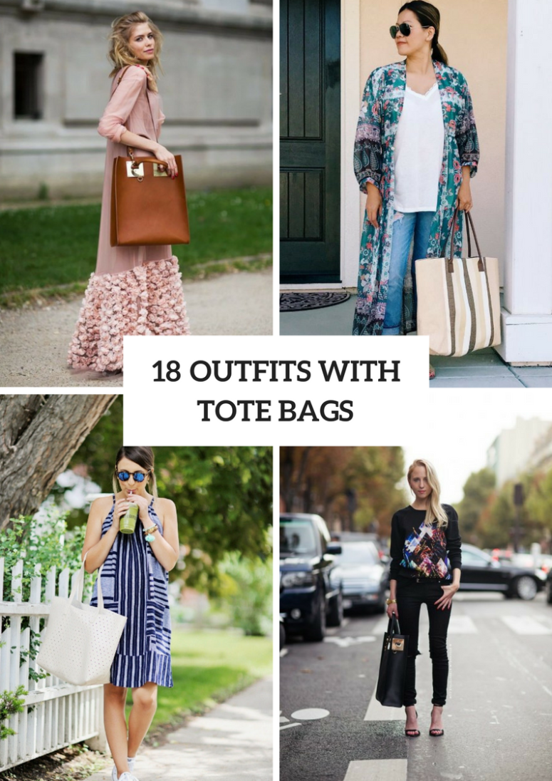 Outfits With Tote Bags For This Summer
