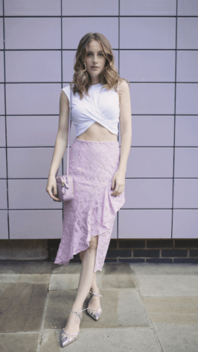 Lilac-Skirt-282x500 35 Best Ways to Wear Lilac Outfits For Women