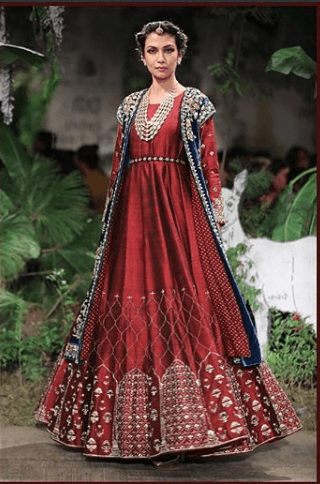 Anarkali-with-Long-Jacket 27 Latest Engagement Dresses for Women in India