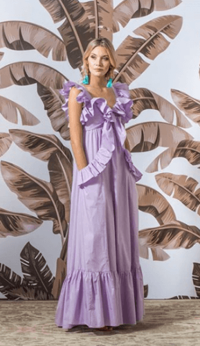 Breezy-Summer-Dress-289x500 35 Best Ways to Wear Lilac Outfits For Women