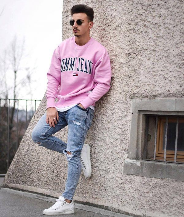 Neon-tops-600x708 25 Outfits to Wear with White Sneakers for Men