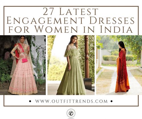 Engagement-dresses-500x419 27 Latest Engagement Dresses for Women in India