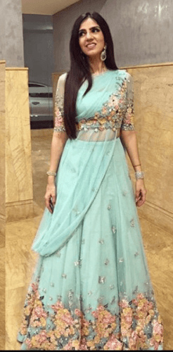 Double-benefit-246x500 27 Latest Engagement Dresses for Women in India