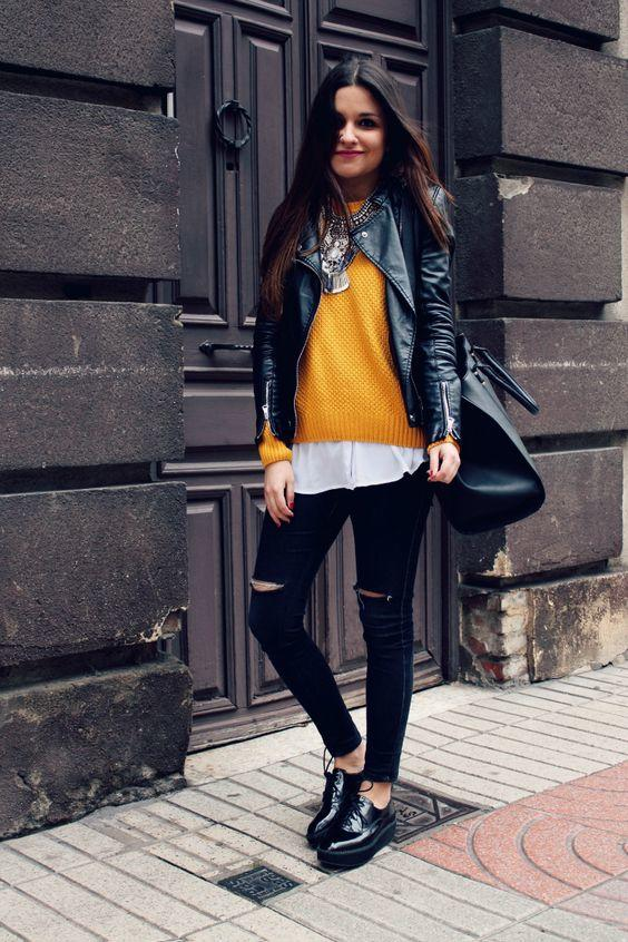 7-5 20 Best Outfits with Mustard Sweaters for Women in 2018