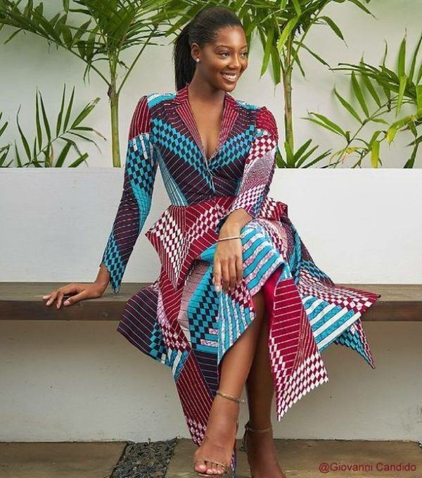 kitenge-8-600x679 20 Best Kitenge Designs for Long Dresses 2018