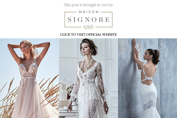 maison signore 2018 collections banner below