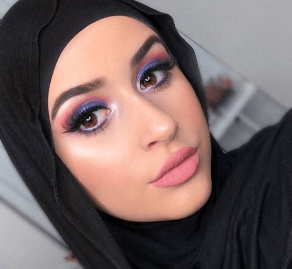 Voilet-Eyes-600x553 Eid Makeup Tutorial-15 Perfect Makeup Ideas for Eid 2018